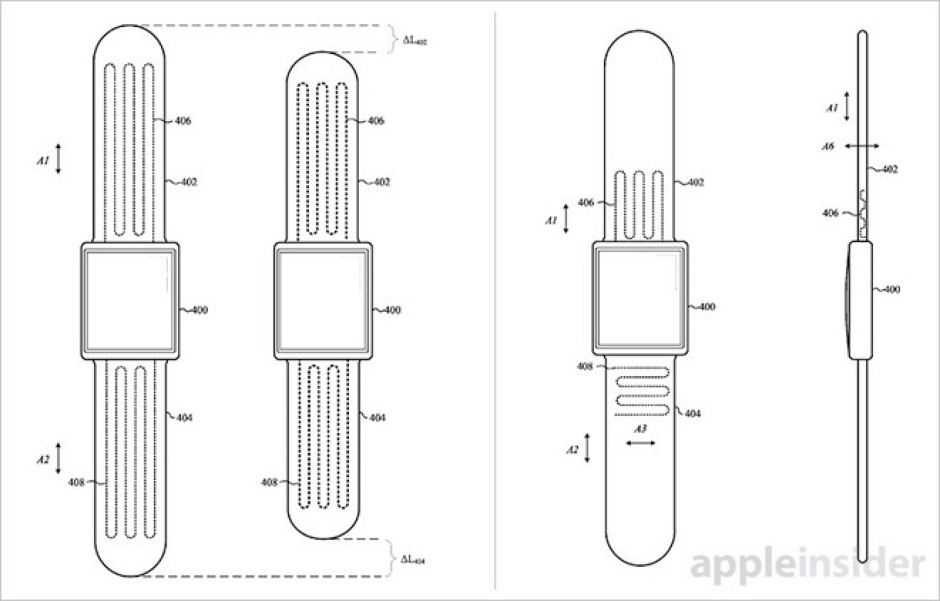 Apple Exploring Self-Adjusting Apple Watch Band Designs