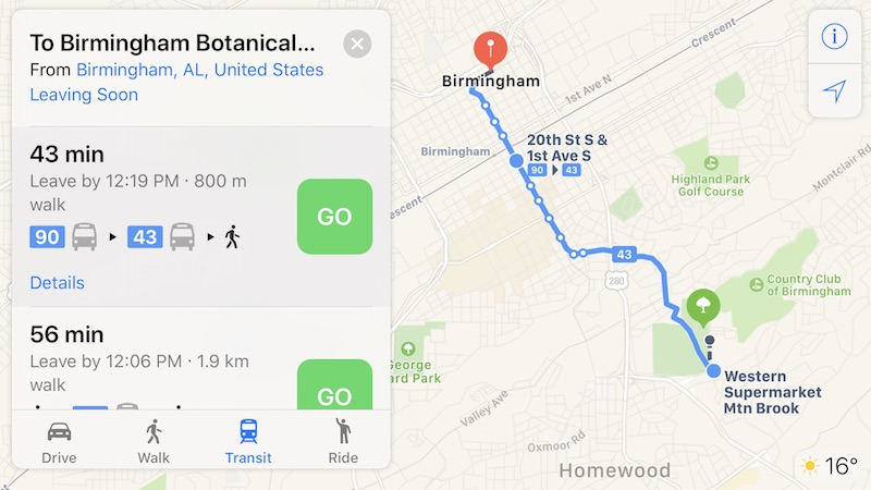Apple Maps Transit Directions Now Available In Phoenix And - Sweden map directions