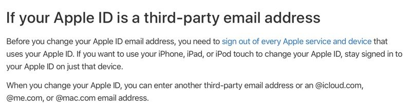 Apple Now Letting Apple IDs With Third-Party Email Addresses Be Updated to Apple Email Addresses