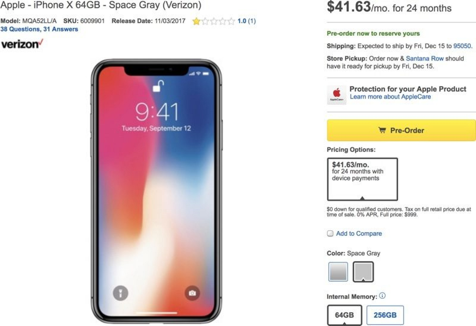 Best Buy Selling iPhone X on Installment Plan Only After ...