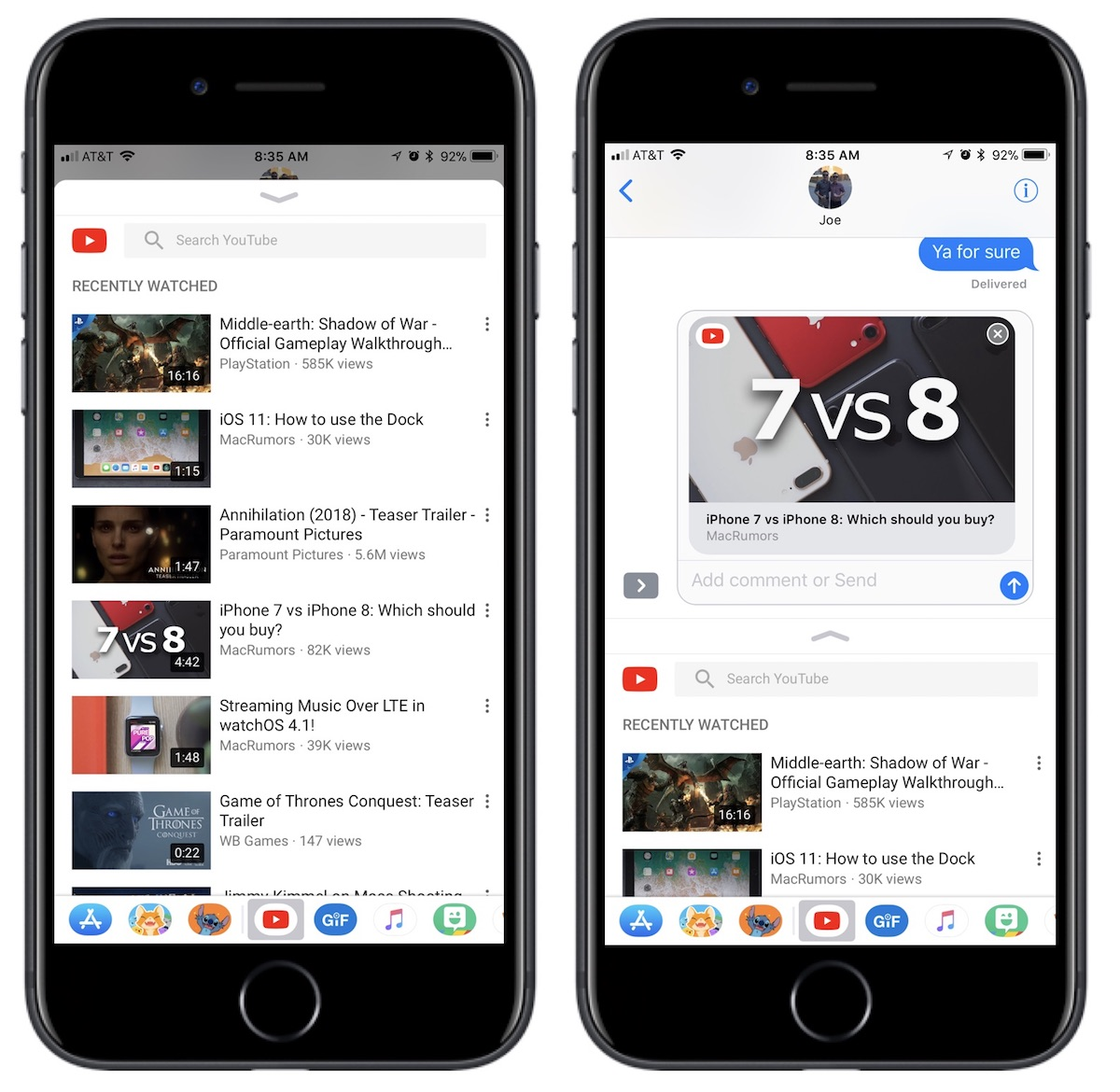 f7c781a9eda After sharing the video, YouTube links work the same as they did before,  with the ability to watch the videos directly within Messages without  having to ...