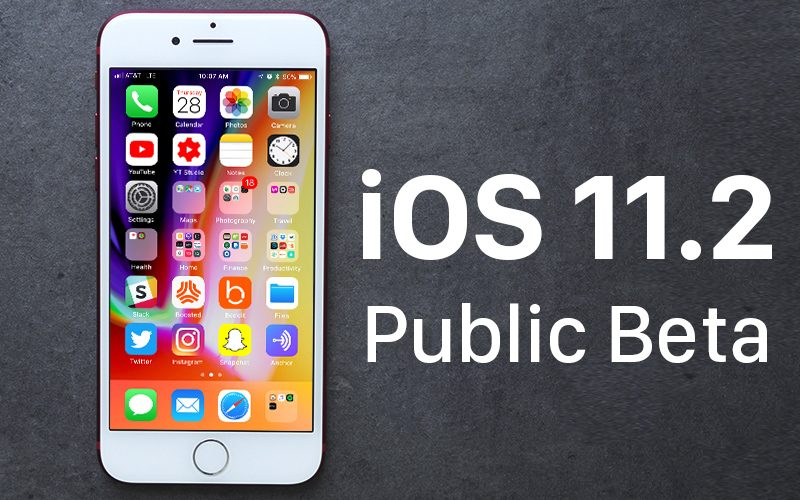 Apple vydal 2. betu iOS 11.2 pro testery mezi veřejností