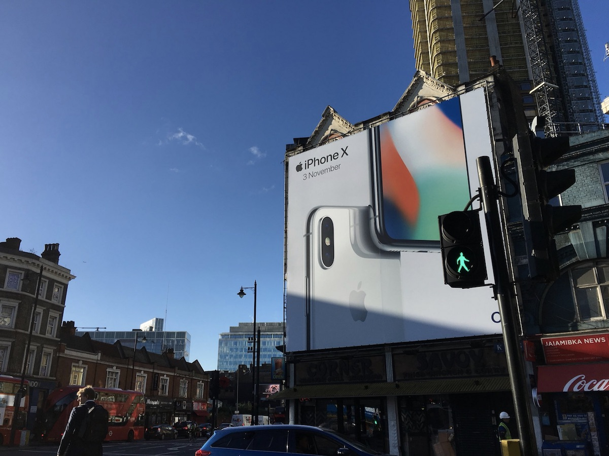 iPhone X Billboards Appear Various Cities Around the World