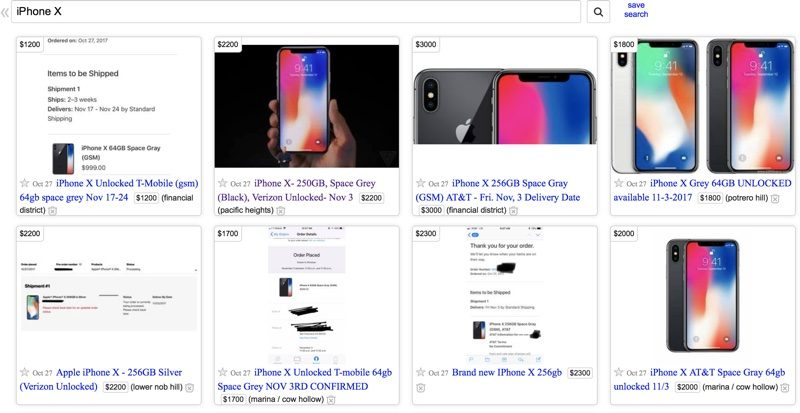 On Craigslist In The San Francisco Bay Area For Example People Are Charging 2000 A 256GB IPhone X Average Markup Of Almost 1000