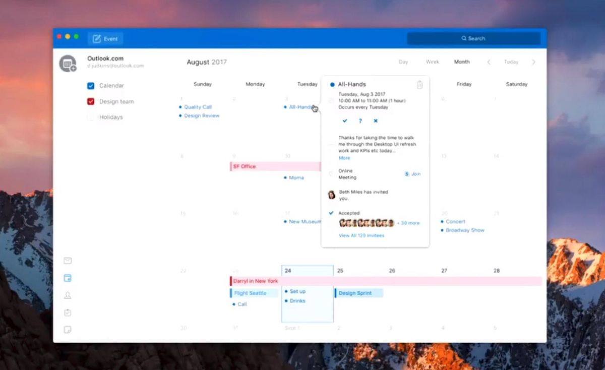 Calendar Design Software For Mac : Microsoft outlook for mac gaining simplified redesign