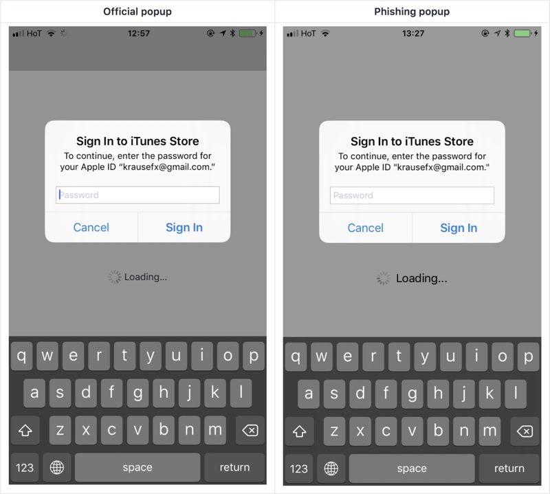 Developer Demonstrates iOS Phishing Attack That Uses Apple