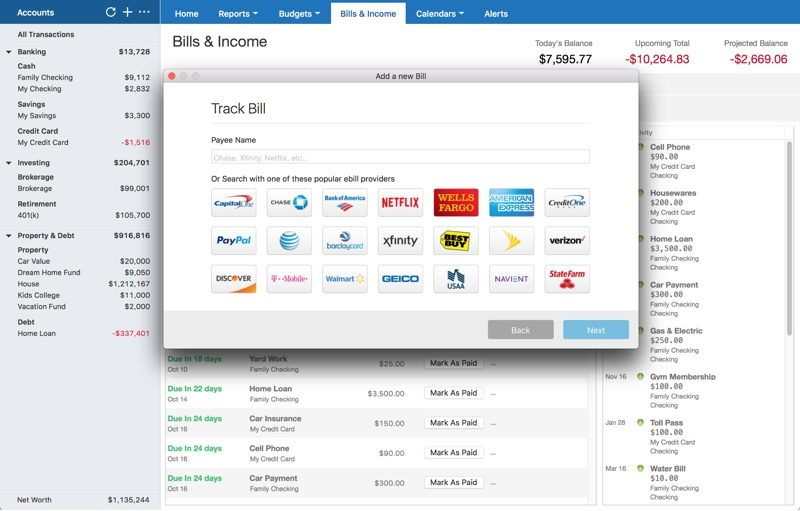Quicken 2018 for Mac Launches With Online Bill Management
