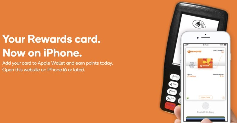 Woolworths Rewards Cards Can Now Be Added to the Wallet App