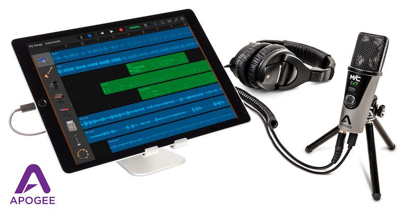"""Apogee's MiC Plus. Apogee says the MiC Plus has input """"blend"""" monitoring that allows users to hear their input signal without any distracting latency, ..."""
