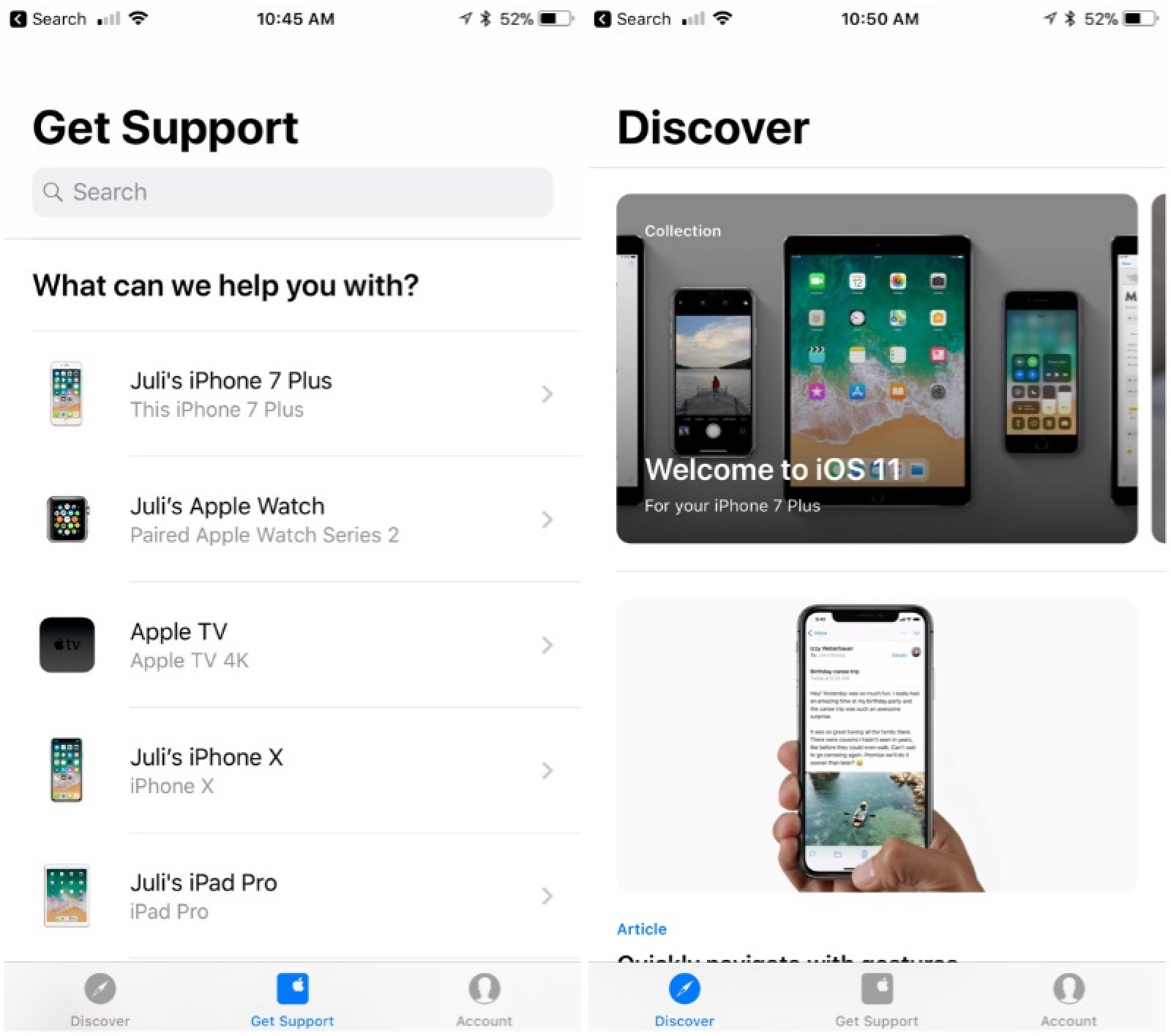 Apple Support App Updated With Redesigned Interface and