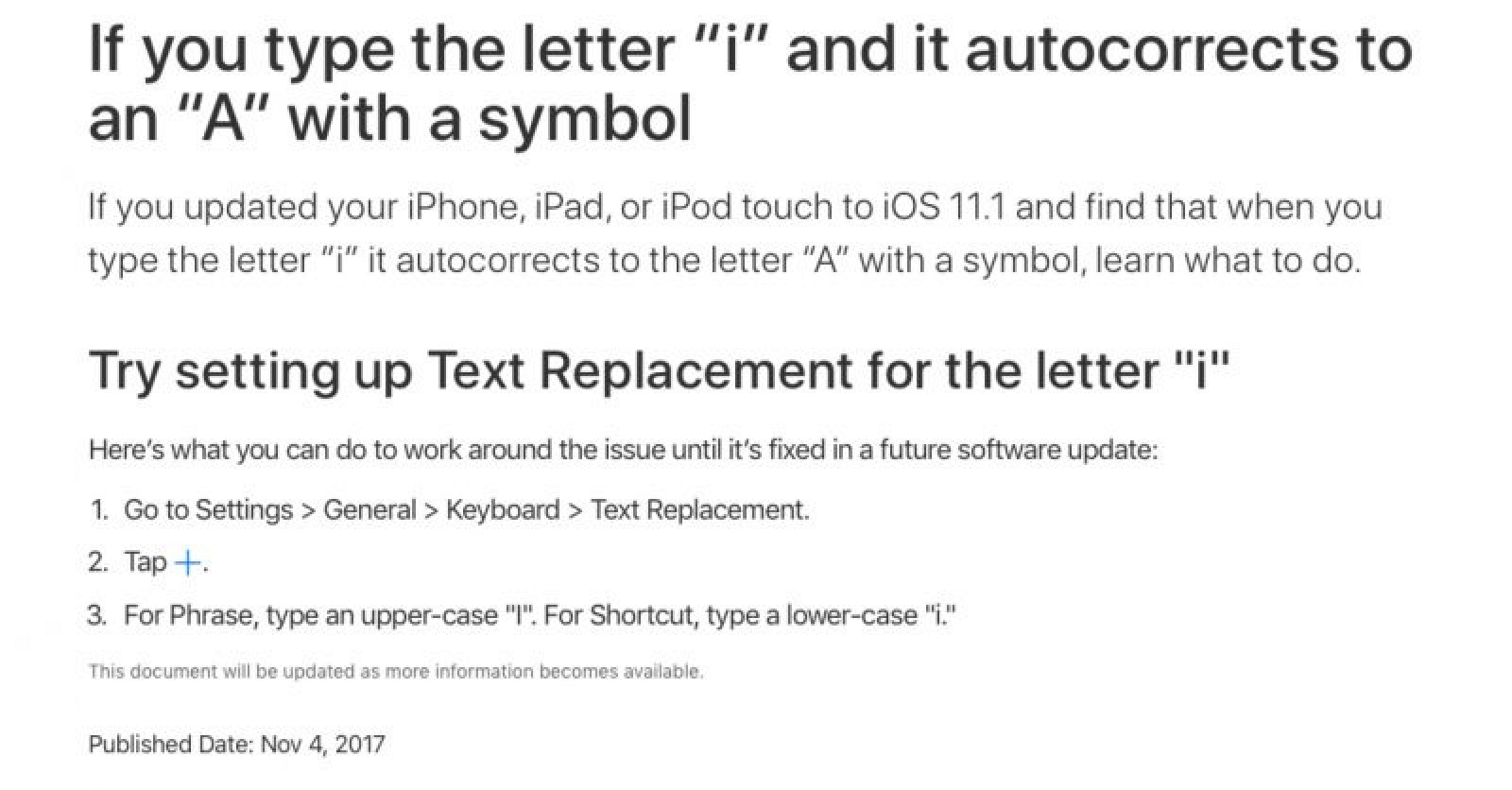 Apple recommends temporary workaround for autocorrect bug in ios apple recommends temporary workaround for autocorrect bug in ios 111 mac rumors biocorpaavc Gallery