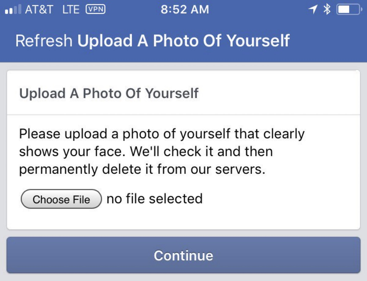 Facebook Expands Captcha Test That Asks for Clear Photo of