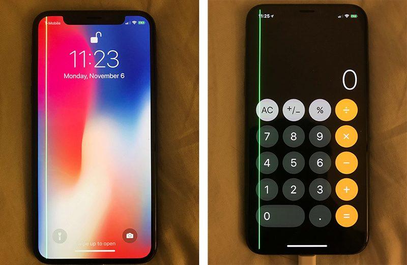 iPhone X a zelená čára. Další problém displeje..