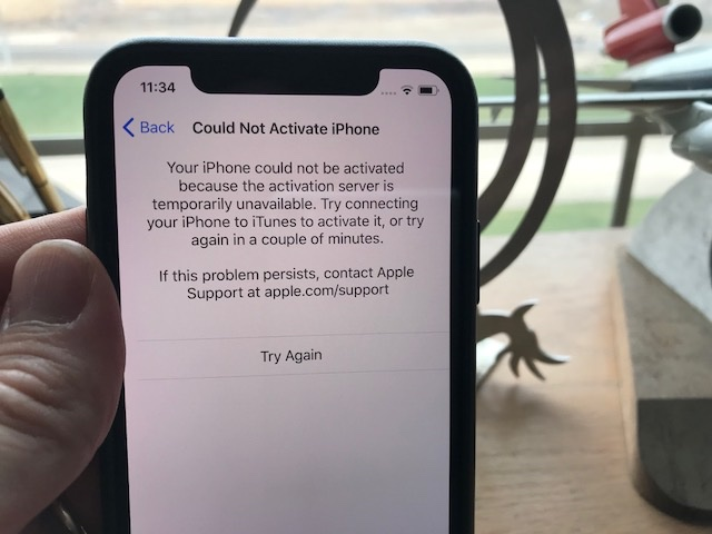 iphone x activation issues at&t
