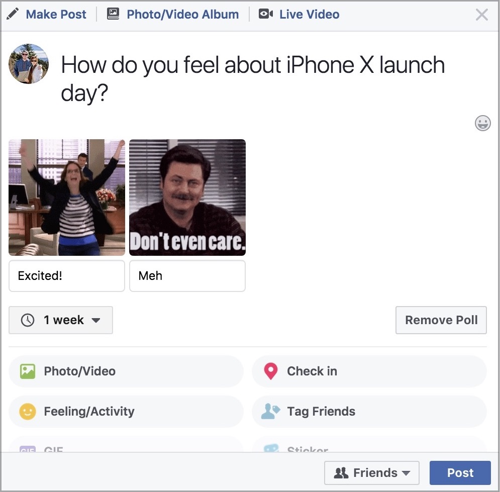 Facebook Expanding New GIF-Based Polling Feature to More