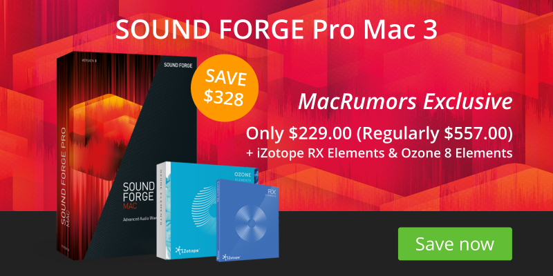 Exclusive Deals: $328 Off Sound Forge Pro Mac 3 and Extended