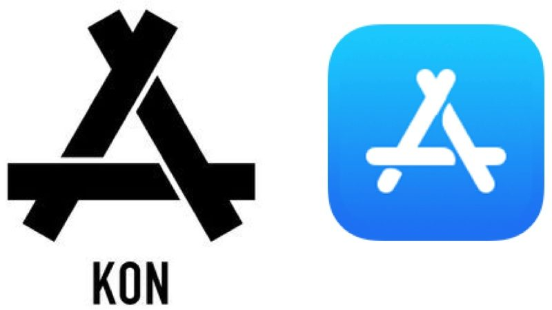 Apple logo clothing store