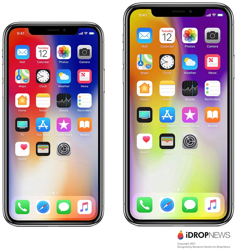 Like The Galaxy Note 8 IPhone X Plus Is Expected To Have A 64 Inch Display But Its Overall Physical Size Will Likely
