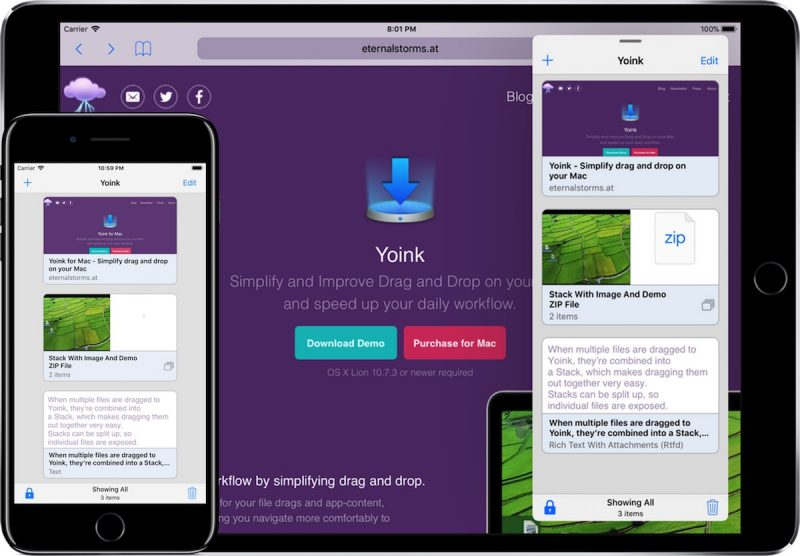 Yoink 1 1 Update for iOS Brings Better Clipboard Support, Download