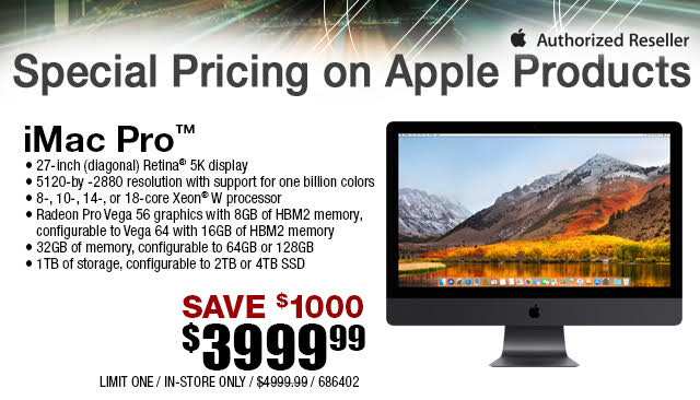iMac Pro is $1,000 Off at Micro Center Stores, Now $3,999