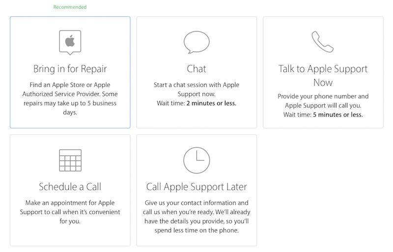 make an appt at apple store
