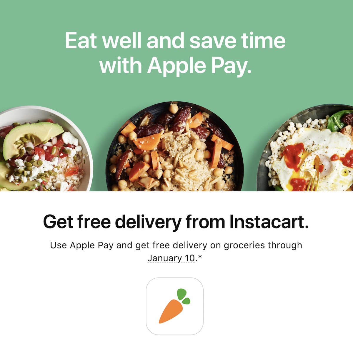 Apple Pay Promo Offers Free Delivery From Instacart Through January