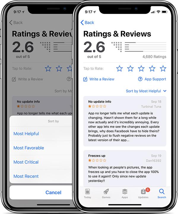 iOS 11.3 Finally Allows Sorting of App Store Reviews - weareliferuiner