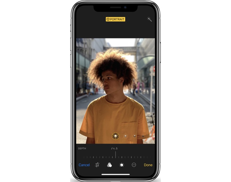 Iphone controlled lighting Smart Portrait Lighting Uses Sophisticated Algorithms To Calculate How Facial Features Interact With Light Using The Data To Create Unique Lighting Effects Like Amazoncom Iphone Xs Reviews And Issues