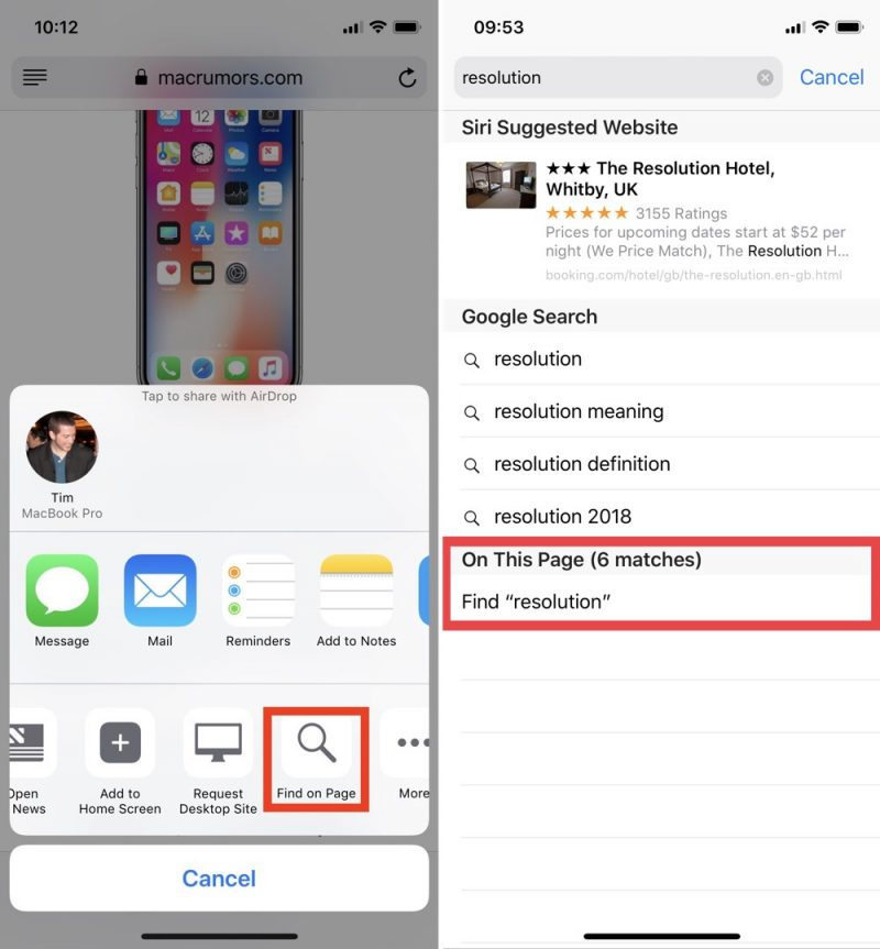 Top Five Time-Saving iPhone Tips: Searching Web Pages, Swipe