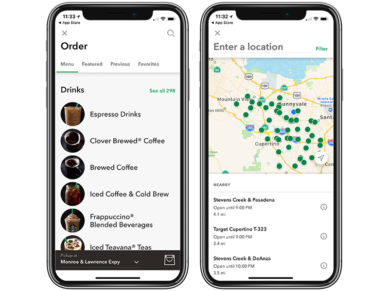 Starbucks App for iOS Updated With New Stores and Ordering