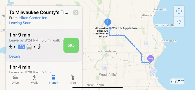 Apple Maps Transit Directions Now Available in Milwaukee Wisconsin