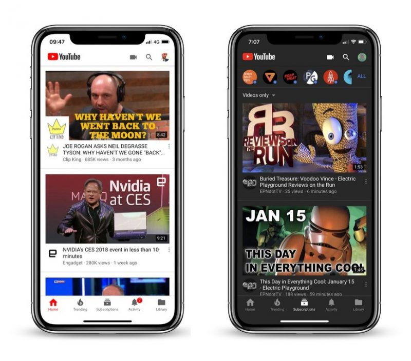 YouTube Currently Testing New Dark Mode for Mobile iOS App - MacRumors