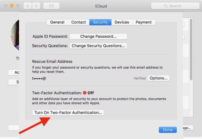 how to turn off two factor verification on iphone