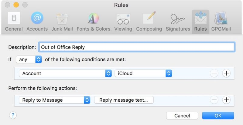 How to Set Up Out-of-Office Replies in Apple Mail and iCloud