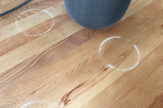 Apple Confirms HomePod Can Leave White Rings on Wood