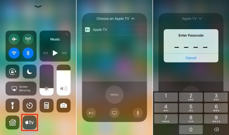 How to Use Control Center's Apple TV Remote in iOS 11