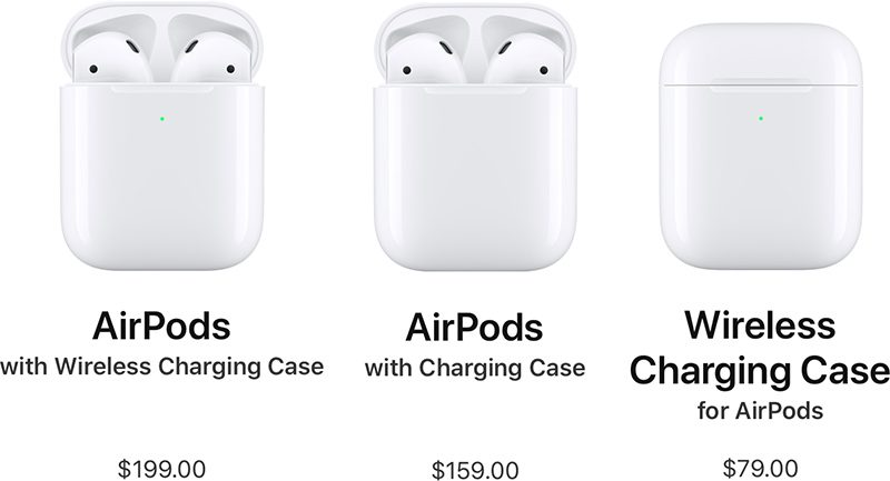25592856f9e There's also an option to purchase the Wireless Charging Case on a  standalone basis without the AirPods for $79, which is handy if you just  want wireless ...