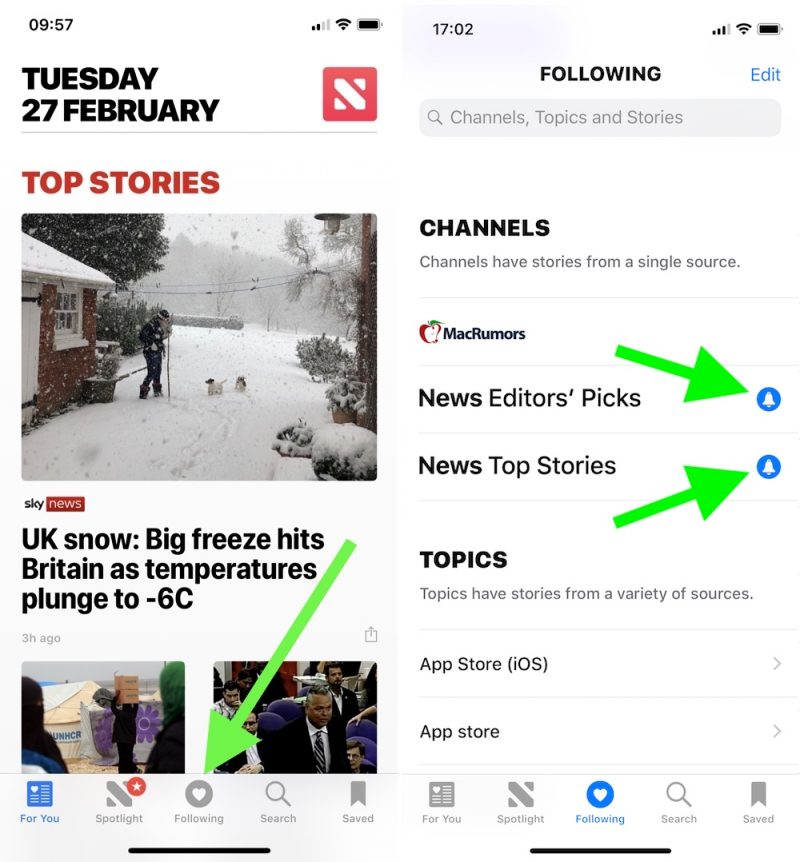 1fe0c8ced21 How to Take Control of Apple News Alerts in iOS 11 - MacRumors
