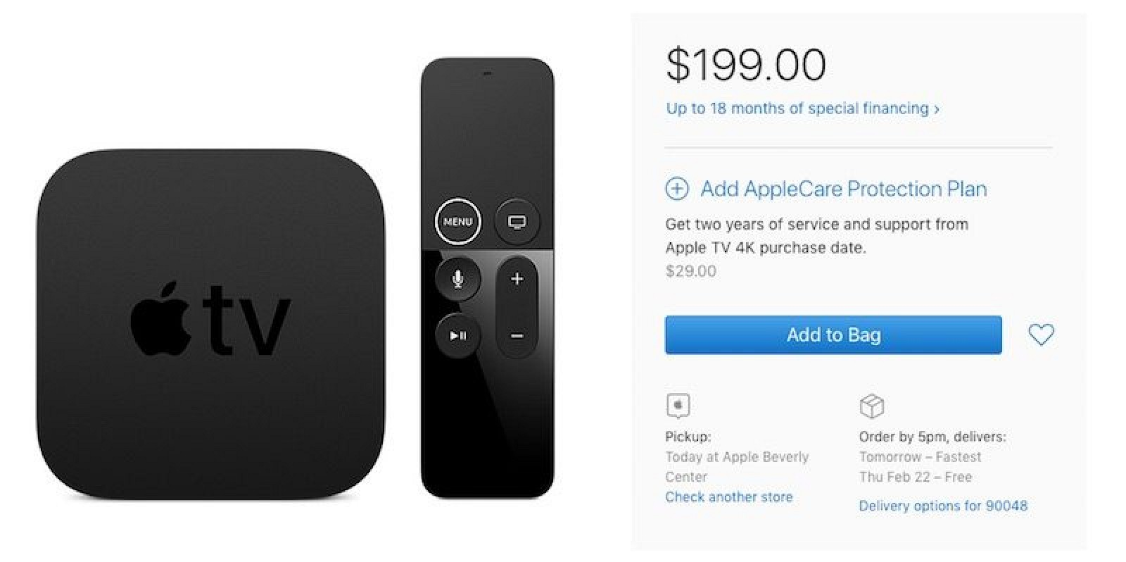 apple tv 4k with 64gb is back in stock after extended shipping delays. Black Bedroom Furniture Sets. Home Design Ideas