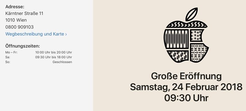 Apple To Open New Retail Store In Vienna Austria On February 24