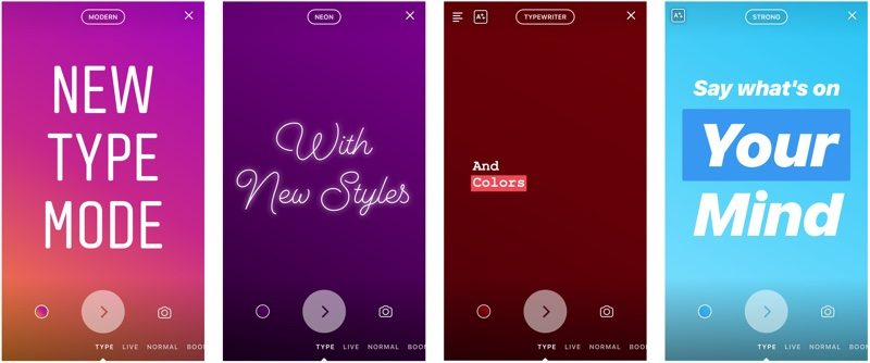 Instagram Launches New Type Mode for Stories - MacRumors