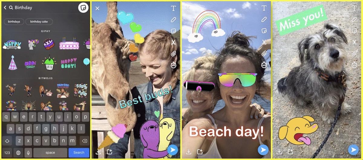 milde Snapchat gegangen