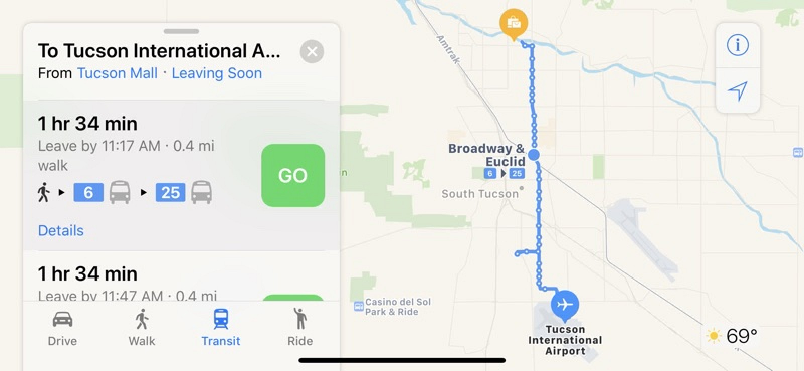 Apple Maps Transit Directions Now Available in Tucson, Arizona ...