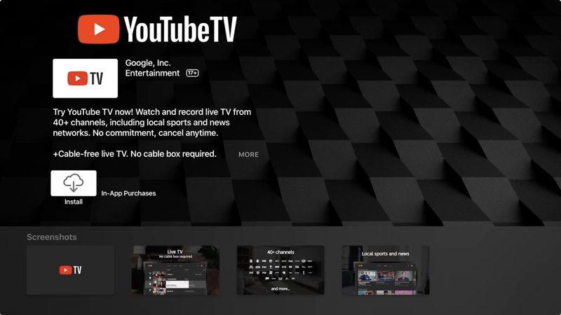 YouTube TV App Officially Launches for Apple TV - MacRumors