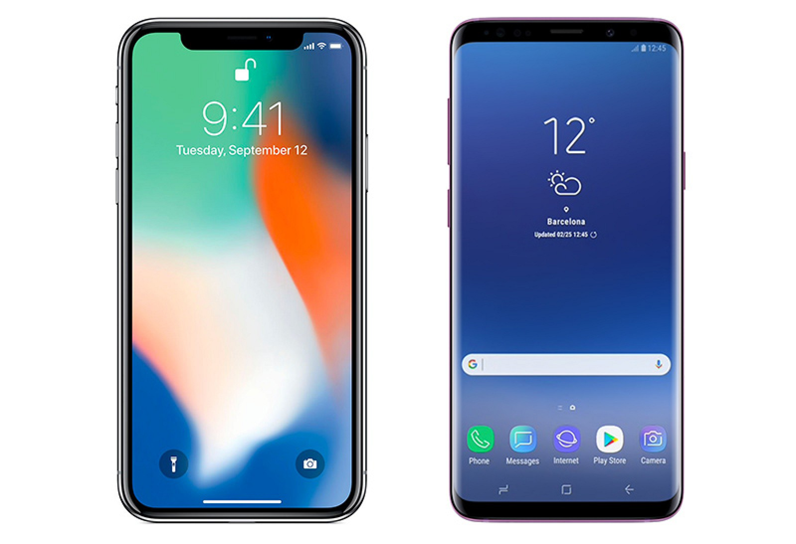 Samsung deler i iphone
