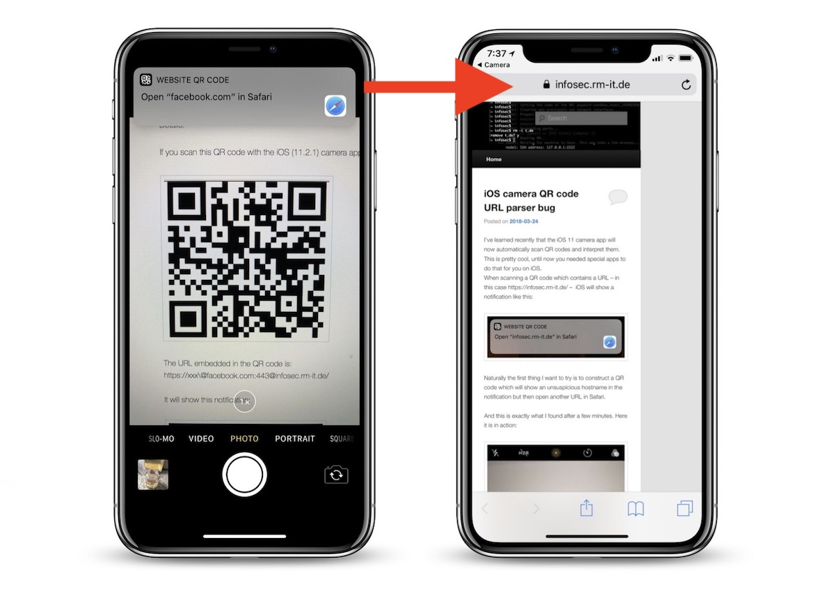 IOS 11 QR Code Vulnerability In Camera App Could Lead