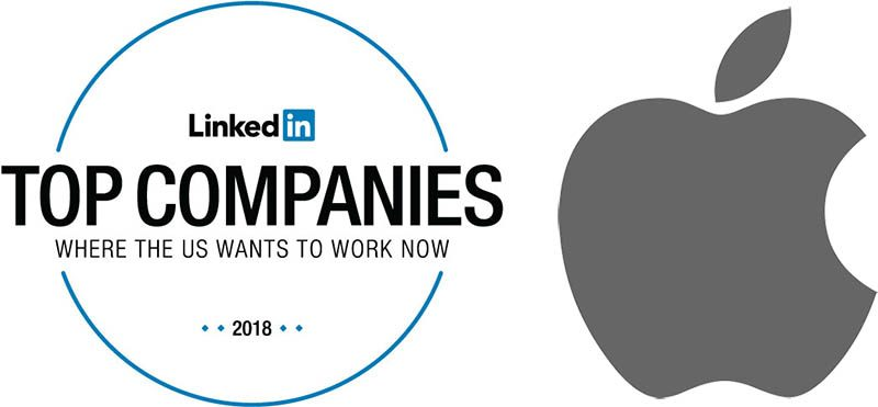 Apple Rises to Sixth in LinkedIn's 2018 List of Top Companies to