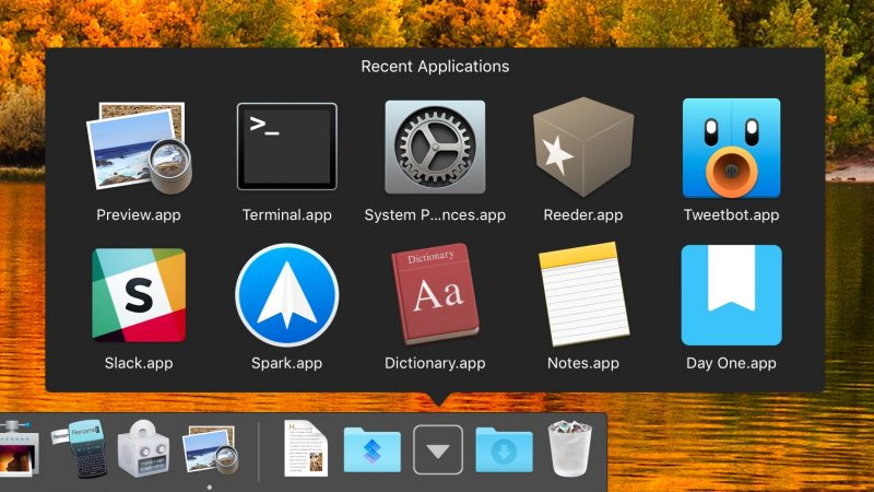 put documents on dock mac
