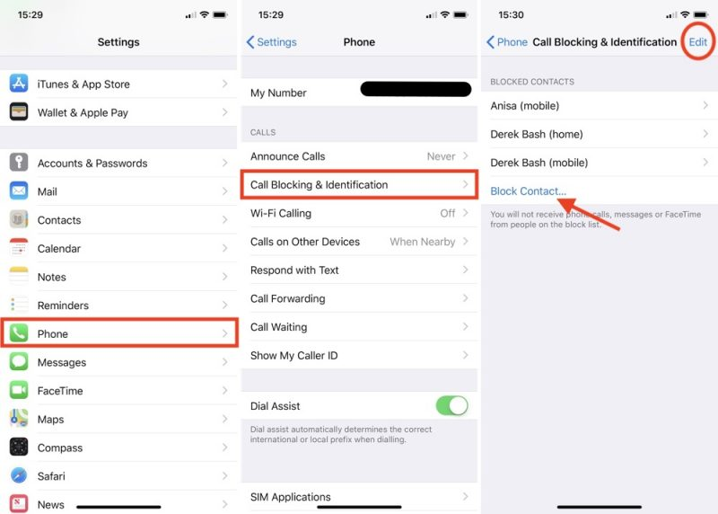 block numbers on iphone how to block nuisance calls and messages on your iphone 13670