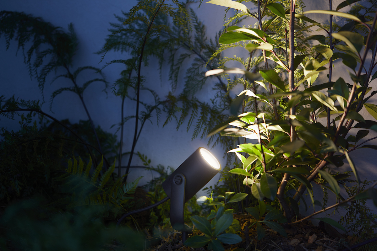 Philips hue reveals first products in outdoor lighting range coming the new lights include the philips hue lily which can be used to highlight key features in a garden and the philips hue calla which can be placed in the aloadofball Images